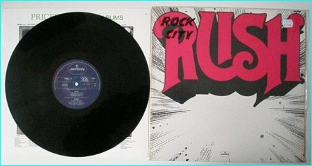 RUSH: S/T , 1st, debut LP (with protective plastic bag)check video