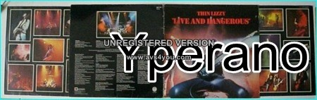 THIN LIZZY: Live and dangerous 2LP