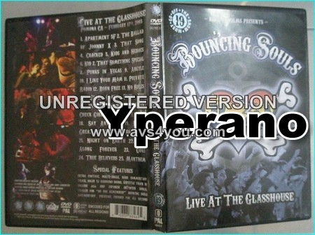BOUNCING SOULS: live at the glasshouse DVD