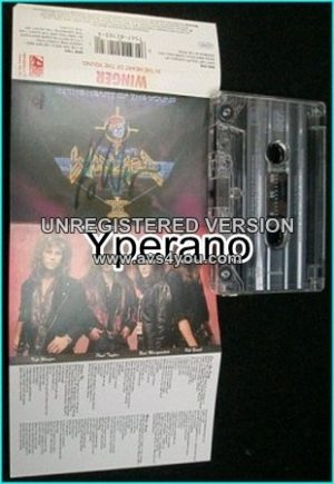 WINGER: In the heart of the young SIGNED, Autographed [Tape] Check samples