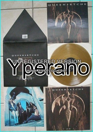 "QUEENSRYCHE: I am I [Limited Edition 12"". Gold Disc Envelope Pack. Containing Two Colour Prints] Check videos"
