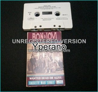BON JOVI: Wanted dead or alive (includes never before realeased acoustic n Live Versions) U.S. tape