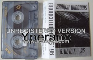 BROKEN WINDOWS: Broken Windows Demo TAPE cassette 1996. KILLER Progressive Metal a la Dream Theater. Check samples.
