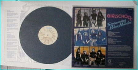GIRLSCHOOL: Screaming Blue Murder SIGNED / autographed LP. Check videos