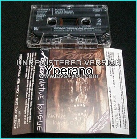POISON: Native Tongue  Promo use only [Tape]