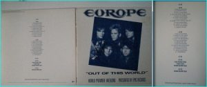 EUROPE: Out of this World 4 sided 2LP (Double vinyl - DIFFERENT COVER) w. interviews. RARE PROMO ONLY Autographed / Signed