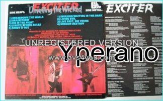 EXCITER: Unveiling the Wicked LP CANADIAN COPY signed, autographed 1986