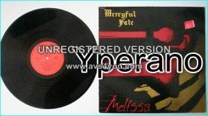 MERCYFUL FATE: Melissa (French copy) LP. Bernett SB 18011 France / French pressing
