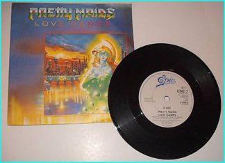 """PRETTY MAIDS: Love Games rare 1987 Melodic Hard Rock 7"""" vinyl single * Check video*"""