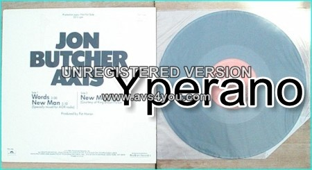 Jon BUTCHER AXIS: Words [New Man (Specially mixed for A.O.R Radio), New Man (live). Promotion copy] CHECK SAMPLE