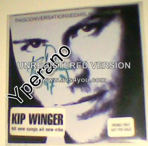 WINGER KIP: This Conversation Seems Like a Dream CD PROMO (no back). Signed, Autographed. Check video all samples