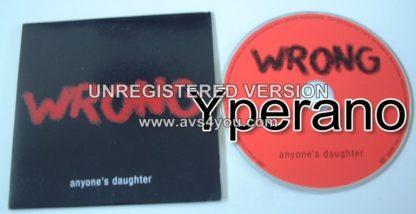 ANYONES DAUGHTER: Wrong CD PROMO Inside Out. Symphonic Prog. Ultimate progressive rock. Check samples