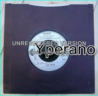 "SAMSON: Red Skies 7"" D.J PROMO (radio disc), 1982, N.W.O.B.H.M. Check video clip"