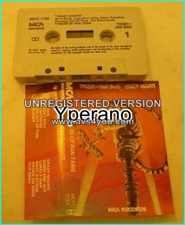 TYGERS OF PAN TANG: Crazy Nights [CLASSIC HEAVY METAL] tape. Check sample