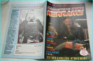 kerrismas kwizz Kerrang 1984 (between 80 issue 81) Motorhead FREE FOR KERRANG ORDERS OF £25