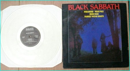 BLACK SABBATH paranoid, war pigs, iron man, fairies wear boots NEMS transparent vinyl NEX 01