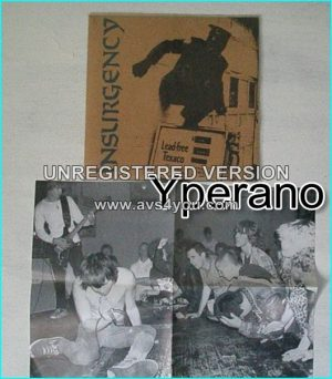 "INSURGENCY: insurgency 7"" 1990 relentless punk. 4 brutal songs n poster w. band live photo lyrics. Check all samples"