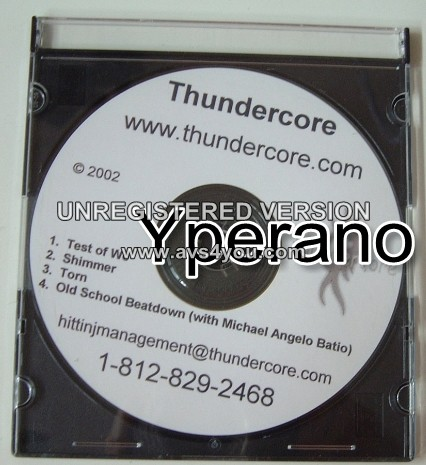 THUNDERCORE: CD SoulFly, Machine Head, Pantera, Metallica, Fear Factory, Sepultura. Check samples. Free for orders of £20