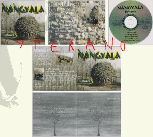NANGYALA: Spheres CD Very melodic Progressive Rock-Metal from Holland. For fans of PINK FLOYD, PORCUPINE TREE, MARILLION