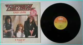 "FASTWAY Easy Livin 12"". 3 tracks (+ bouns). Check video. ex Motorhead guitarist Fast Eddie Clarke, Pete Way (UFO / Waysted)."