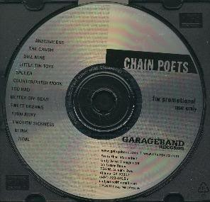 CHAIN POETS: S/T cd. Killer Alternative power-pop, post-grunge and classic rock. Check samples