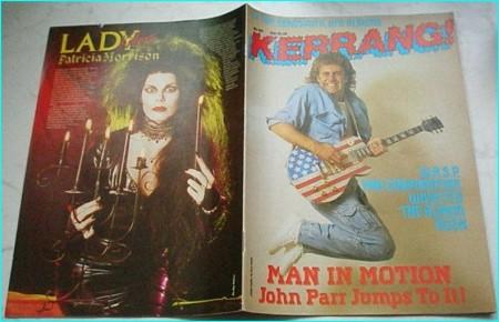 KERRANG NO. 107 (Nov. 1985 JOHN PARR cover, WASP, Far Corporation, Waysted, Rush, Iron Maiden, Adrian Smith, W.O.W