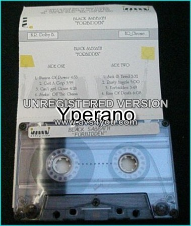 BLACK SABBATH: Forbidden Abbey Road promo tape only Ultra rare.