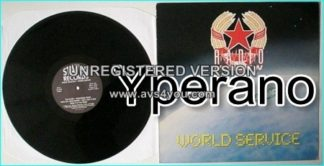 RADIO MOSCOW: World Service LP. 1st, debut. RARE Status Records with Diamond Head guitarist. Check samples. HIGHLY RECOMMENDED