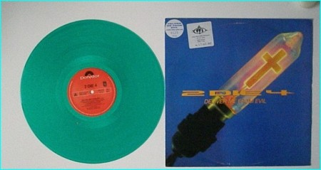 "2 DIE 4: Deliver Me From Evil 12"" PROMO Limited edition green vinyl. Excellent Hard Rock. Underrated UK band"