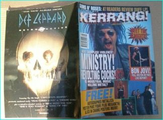 KERRANG - No.462 MINISTRY, BON JOVI, SMASHING PUMPKINS, REDD KROSS, MR BIG, ENTOMBED, GUNS N ROSES, WILDHEARTS