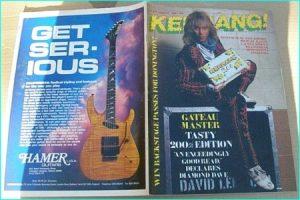 KERRANG - No.200 DAVID LEE ROTH, Exodus, Overkill, Iron Maiden, Apollo Ra