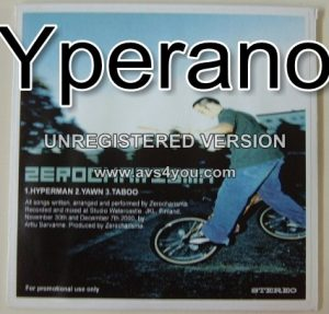 ZEROCHARISMA Hyperman, Yawn, Taboo. 3 song PROMO only CD. Check sample. Free £0 for orders of £28