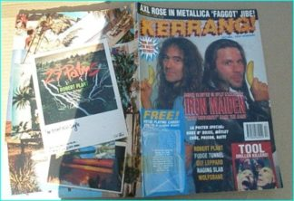 KERRANG - No.441 May 1993 Iron Maiden (Bruce Dickinson Steve Harris cover), Robert Plant, Fudge Tunnel, Def Leppard