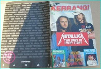 KERRANG - No.415 METALLICA, MUDHONEY, SCREAMING TREES, MANOWAR, SUICIDAL TENDENCIES, WASP, DEF LEPPARD