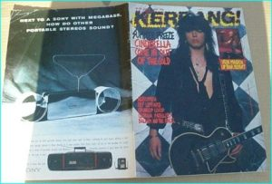 KERRANG - No.196 Cinderella cover, Aerosmith, Def Leppard, Gringos Locos, Georgia Satellites, Balaam and the Angels, Iron Maiden