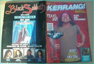 KERRANG - No.398 (1992 PEARL JAM, Melvins, Helmet, KILLERS, NYMPHS, TORA TORA, PARADISE LOST, GUNS N ROSES