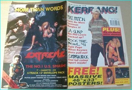 KERRANG - No.350 Mike Patton, Faith no more, LA Guns, Milton Keynes, 8 page phot pull out, Nirvana, Hole