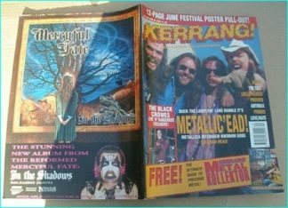 KERRANG - No.448 METALLICA DIAMOND HEAD, THE CULT, PRIMUS, MSP, FUGAZI, ANTHRAX, Lollapalooza, Love / Hate, Metal Kollektor