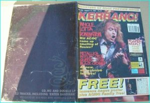 KERRANG NO.354 ACDC, Metallica, Black Crows, Queensryche, Monsters of Rock, Guns N Roses, Motley Crue