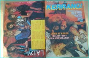 KERRANG - No.148 JUNE 1987 ( Guns NRoses Cover, Celtic Frost, Kooga, Faster Pussycat, Heart, Stryper, Judas Priest, Sacrilege