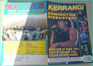 KERRANG NO.355 [AUG AUG 1991 ACDC COVER ACDC, Monsters Of Rock, Love / Hate, Nirvana, Dogs D Amour, UFO, Motley Crue