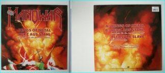 """MANOWAR Kings of Metal Herz aus Stahl Pleasure Slave 12"""". exclusive German release, incl. German version of HEART OF STEEL"""