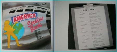 AMERICA STRIKES BACK compilation LP: Hagar (live) , April Wine, Riot, Max Webster, Prism, Motels, Red Rider.