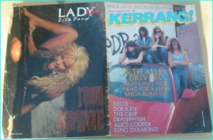 KERRANG No. 166, DEC 1987, MEGADETH - DOKKEN, ALICE COOPER, HERIX, GRIP