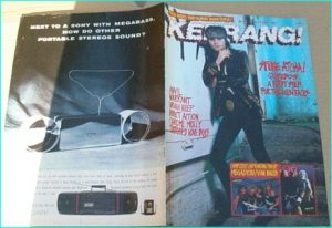 KERRANG - No.211 Oct. 1988 (Spike) Quireboys Cover, Anvil, Uriah Heep, Warrant, Chrome Molly, Tattooed Love Boys, Magadeth
