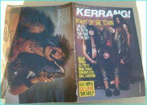 KERRANG - No.241 (1989 VAIN cover, 24-7 Spyz, W.A.S.P, Bang Tango, Kingdom Come, Black Sabbath, King Diamond, Torino