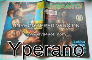 KERRANG No. 79 Conan Comix Cover, Scorpions, Styx, Blackfoot, Def Leppard, John Waite, Gary Moore, Kiss, WASP Shy, Metallica