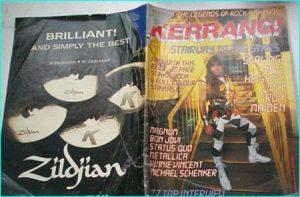 KERRANG - No.130 .1986 Iron Maiden (Bruce Dickinson cover), Magnum, Bon Jovi, Status Quo, Metallica, Vinnie Vincent