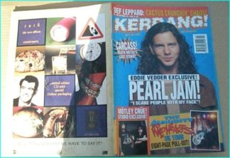 KERRANG - No.466 PEARL JAM, DEF LEPPARD, JOE SATRIANI, Terrorvision, Wildhearts, Kerbdog, Almighty