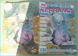 KERRANG - No.321 Pushhead illustration interview, Warrior Soul, George Lynch, Mick Hughes, Metallica, Dread Zeppelin